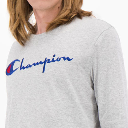 Champion Long sleeve T-Shirt, Grey Melange