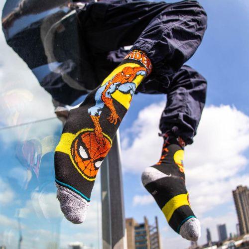 Stance Spider Man Marquee Socks, Black.