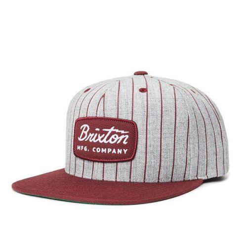 Brixton Jolt Stripe Snapback, Maroon.