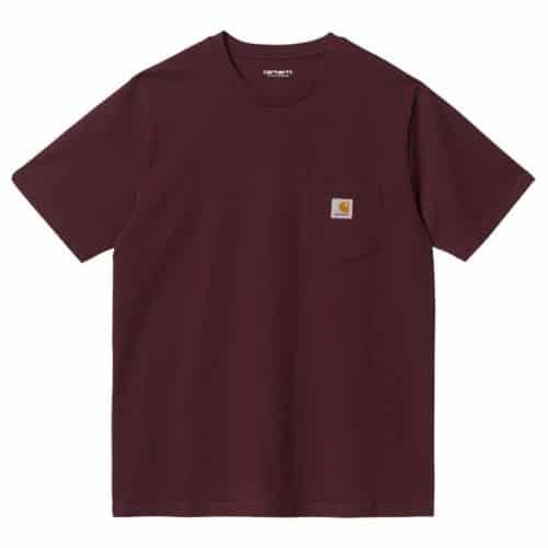 Carhartt Pocket T-shirt Wine Red.