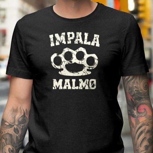 Impala Malmö Knuckle Charcoal Melange T-shirt.