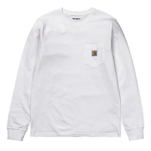 Carhartt White Pocket Long Sleeve T-shirt.