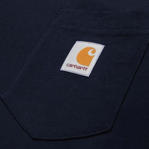 Carhartt Navy Long Sleeve Pocket T-shirt.