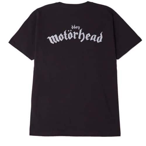 Obey Motorhead Damaged Case T-shirt, Black.