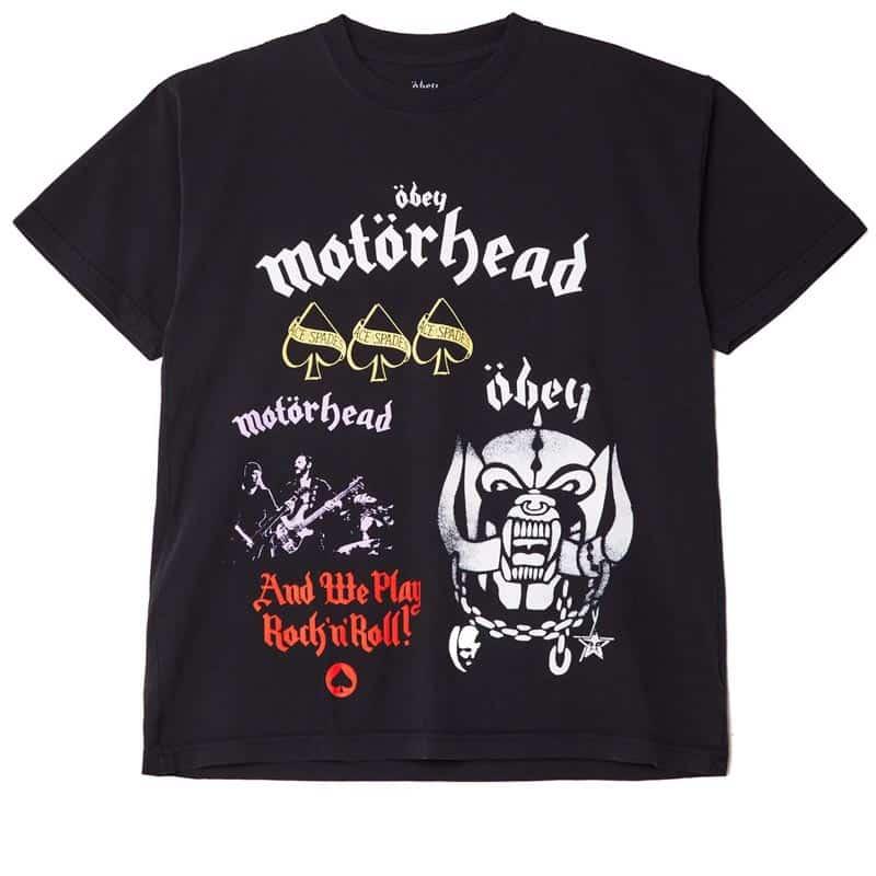 Obey Motorhead Test Print T-shirt, Black.